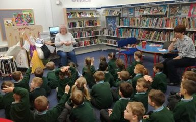 Visit to Birtley Library.