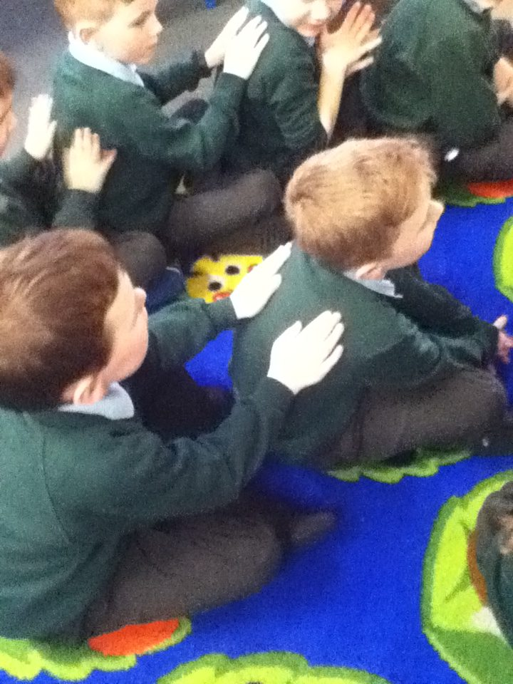 First we knead the dough, then we spread the tomato puree. After that we  sprinkle on the cheese and topping, then warm our hands and place it in the  oven!!